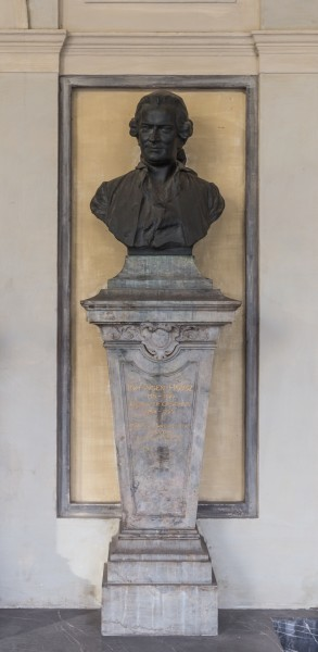 Jan Ingen-Housz (1730-1799), Nr. 37 bust (bronze) in the Arkadenhof of the University of Vienna-1872