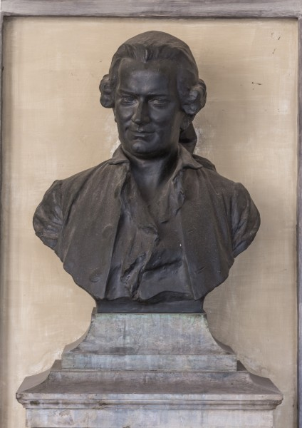 Jan Ingen-Housz (1730-1799), Nr. 37 bust (bronze) in the Arkadenhof of the University of Vienna-2168