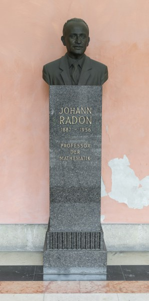 Johann Radon (1887-1956), Nr. 107, bust (bronze) in the Arkadenhof of the University of Vienna-2542-HDR