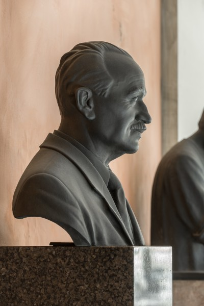 Johann Radon (1887-1956), Nr. 107, bust (bronze) in the Arkadenhof of the University of Vienna-2888