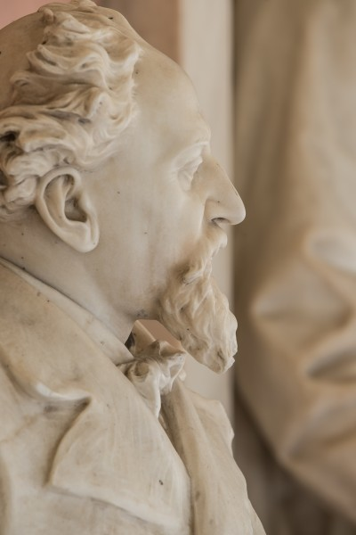 Karl Stoerk (1832-1899), physician, Nr. 129, bust (marble) in the Arkadenhof of the University of Vienna-3580