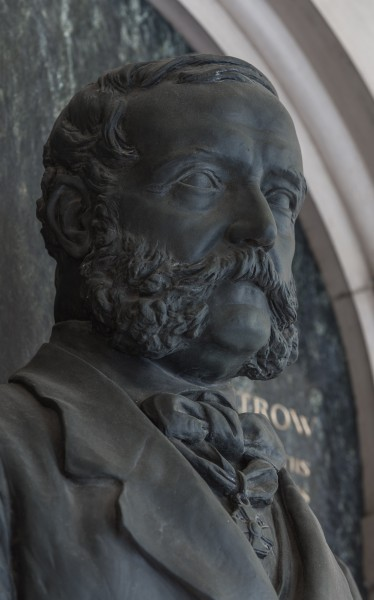 Karl von Littrow (1811-1877), Nr. 96 bust (bronze) in the Arkadenhof of the University of Vienna-2439