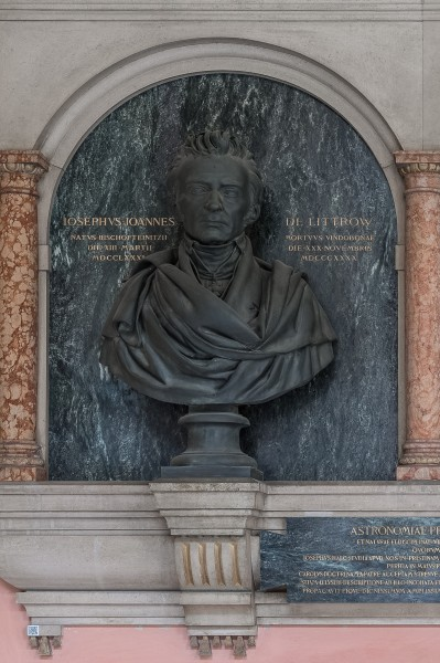 Karl von Littrow (1811-1877), Nr 96 bust (bronze) in the Arkadenhof of the University of Vienna-2379a-HDR