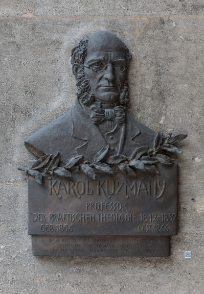Karol Kuzmány (1806-1866), autor and theologian, Nr. 121, basrelief (bronze) in the Arkadenhof of the University of Vienna-3795-2