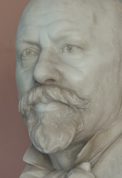 Moriz Kaposi (1837-1902), physician, Nr. 118, bust (marble) in the Arkadenhof of the University of Vienna-3003