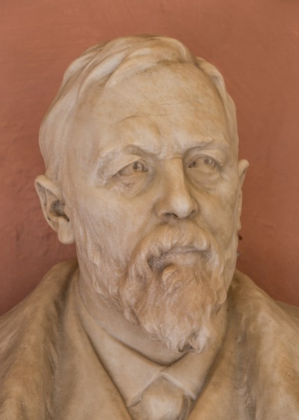 Richard von Krafft-Ebing (1840-1902), psychiatrist, Nr. 136, bust (marble) in the Arkadenhof of the University of Vienna-3634