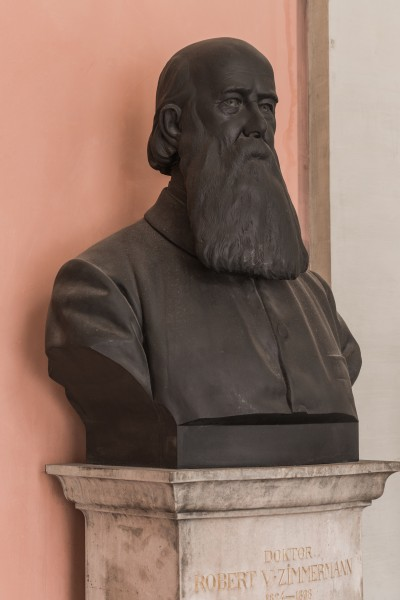 Robert von Zimmermann (Nr. 22) - Bronze bust in the Arkadenhof, University of Vienna - 0323