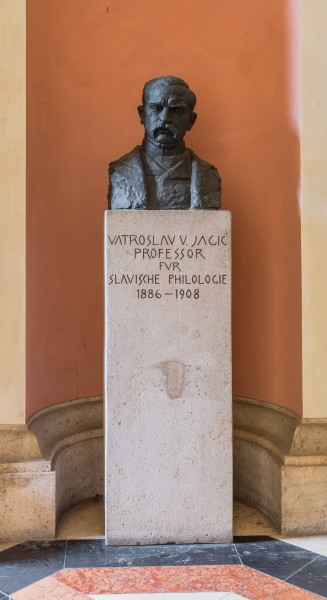 Vatroslav von Jagic (1838-1923), bust (bronze) Nr. 83, in the Arkadenhof of the University of Vienna-