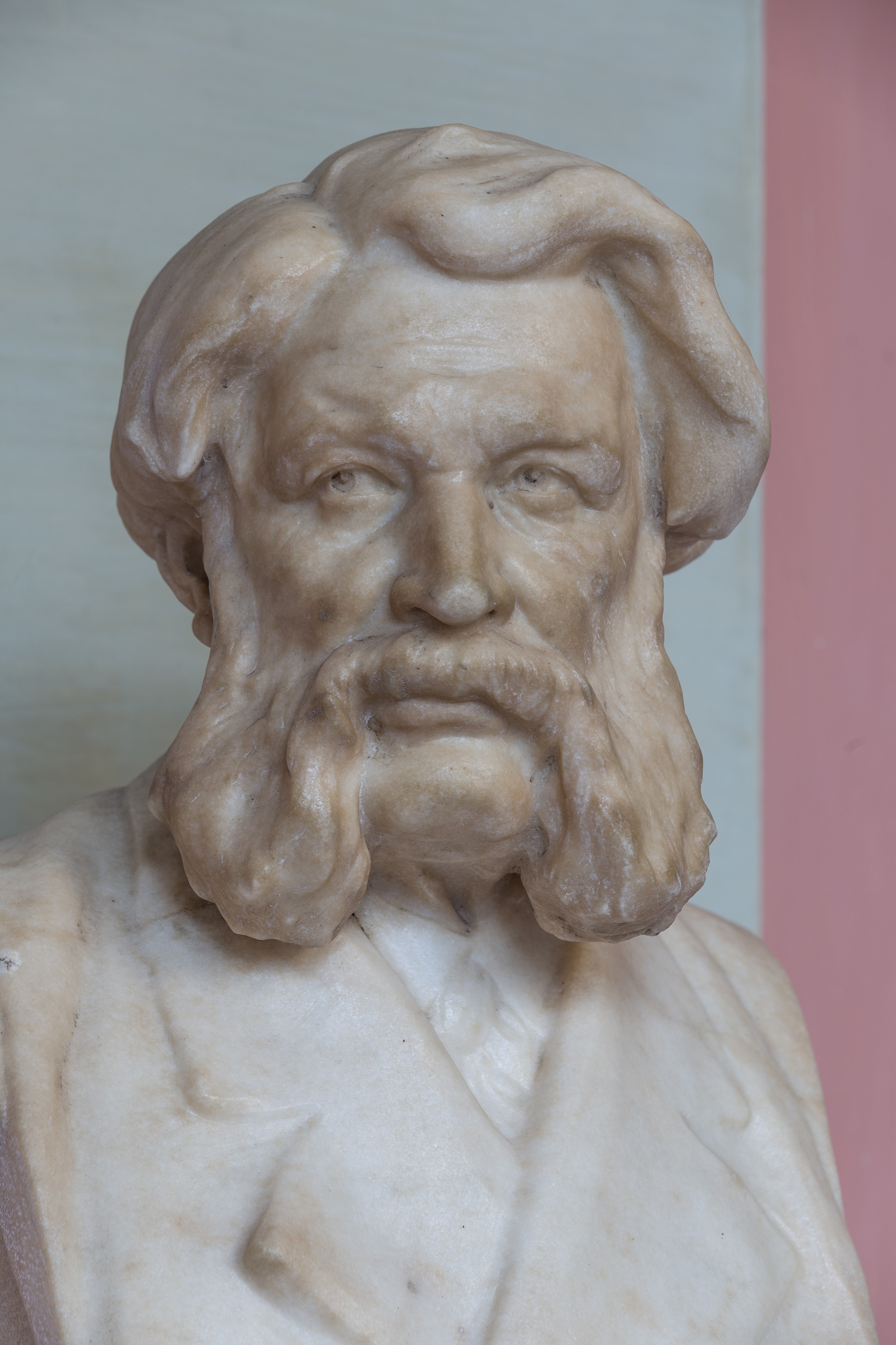 Josef Seegen (1822-1904), Nr. 72 bust (marble) in the Arkadenhof of the University of Vienna-1323