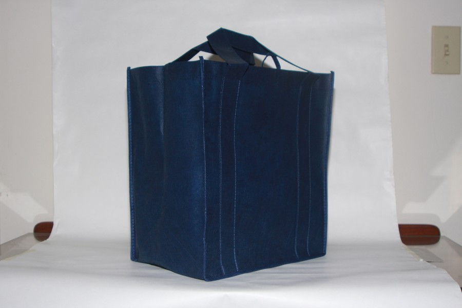 Blue reusable shopping bag