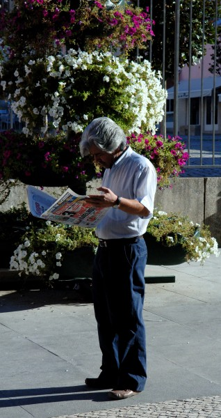 2005 reading newspaper Portugal 69716477