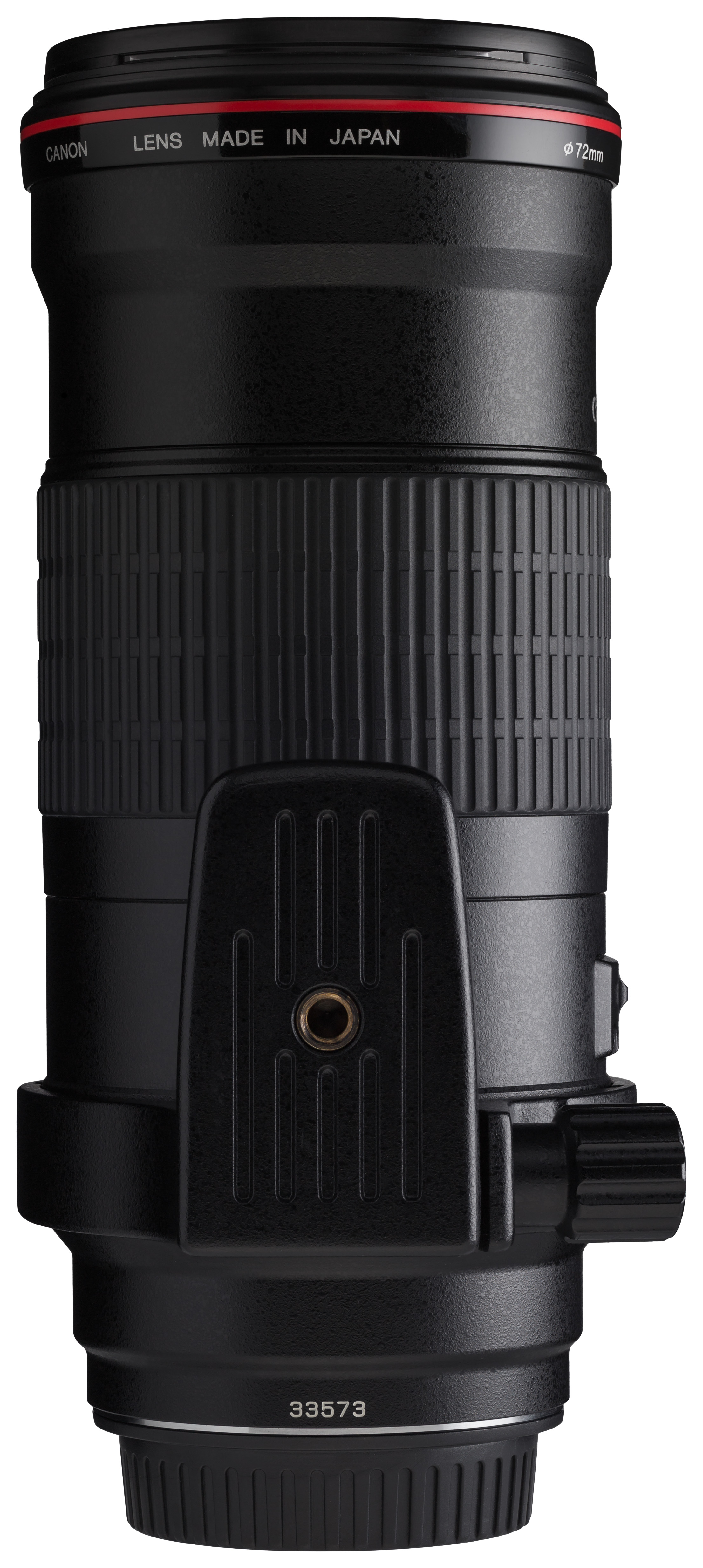 Canon EF 180mm f3.5L Macro USM back horizontal with tripod ring