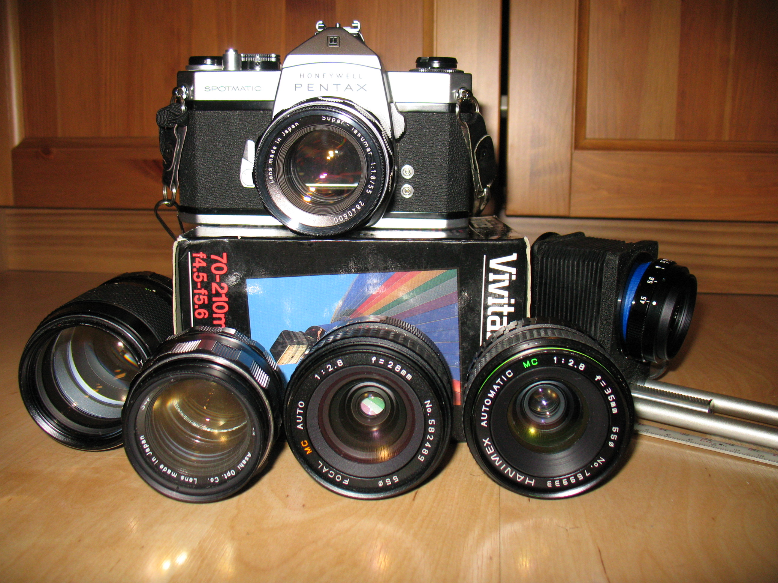 Pentax Spotmatic and lenses