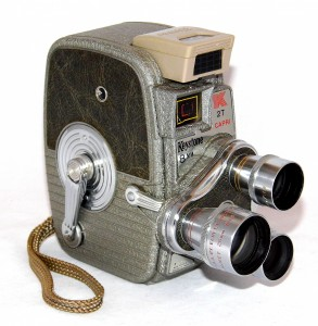 Vintage Keystone Model K-27 Rollfilm Triple Turret 8mm Movie Camera, Made In USA, Circa 1958 (22876870575)