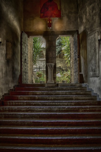 A View Into The Courtyard (Hammond Castle) (13434293084)