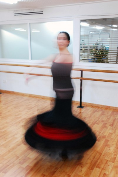 Blurry dancer