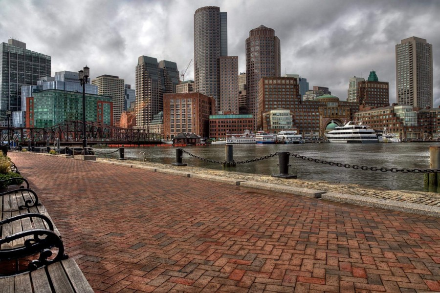 Boston Skyline (viewed from the Seaport) (21697186258)