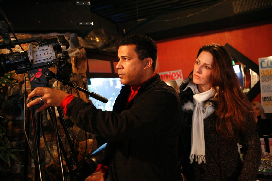 Cameraman with woman