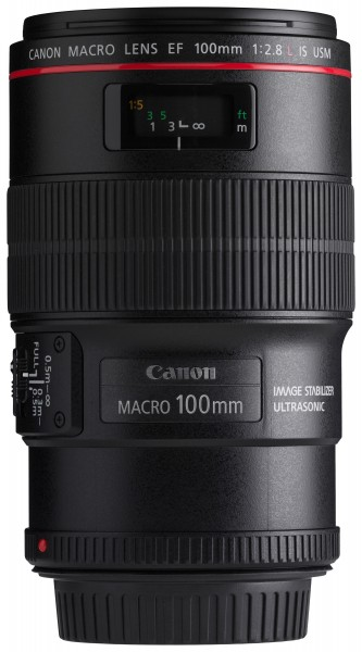 Canon EF 100mm f2.8L Macro IS USM front horizontal
