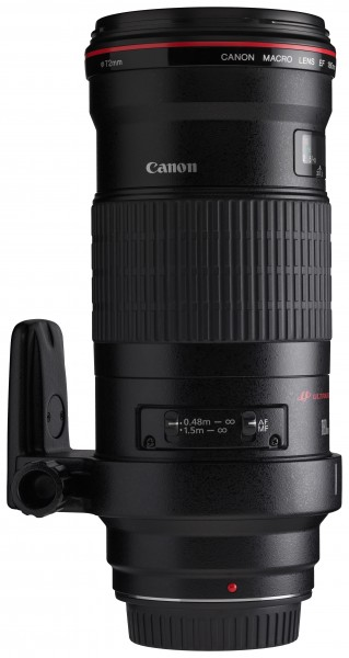 Canon EF 180mm f3.5L Macro USM switches horizontal with tripod ring rotated