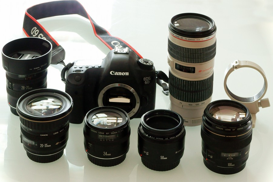 Canon EOS 6D body with Canon EF lenses