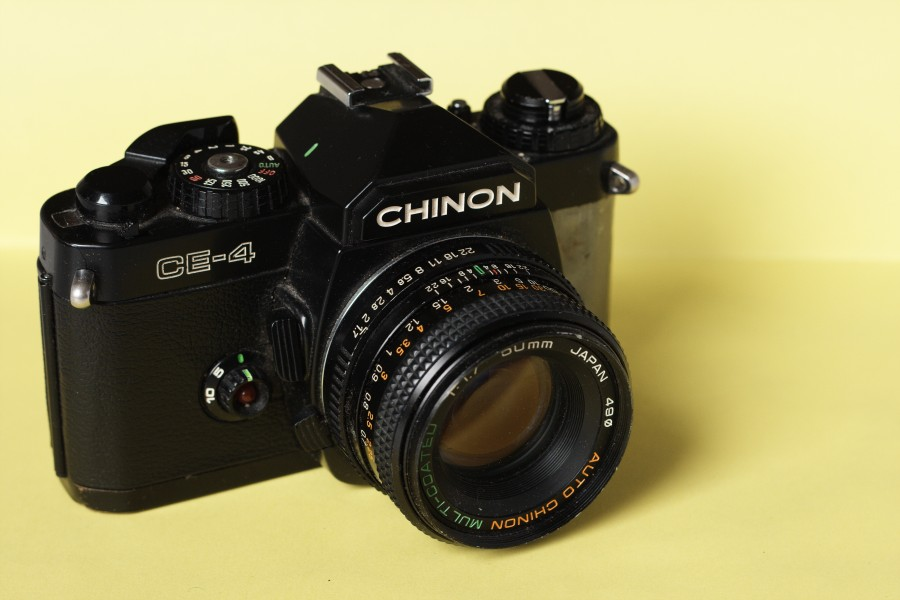Chinon CE-4 SLR camera with Chinon Auto MC 50mm F1.7 lens