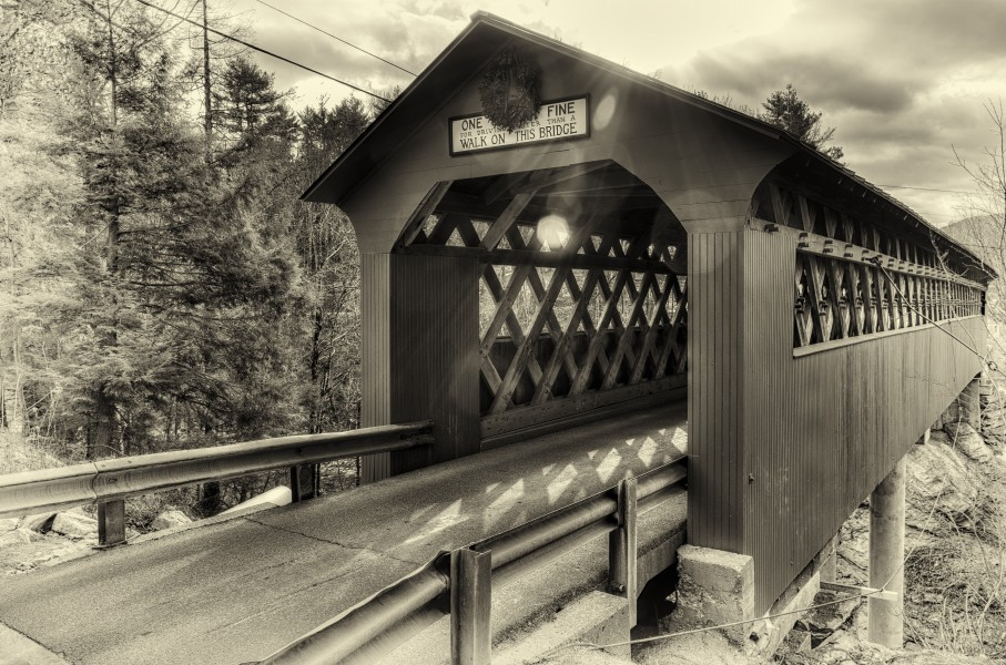 Chiselville Covered Bridge (antique plate) (16009312389)