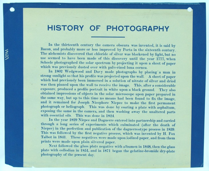 Description- Thomas Smillie was the Smithsonian's first photographer and curator of photography, beginning his career at the institution in the 1870s. In 1913 he mounted an exhibition on the history (2551356690)