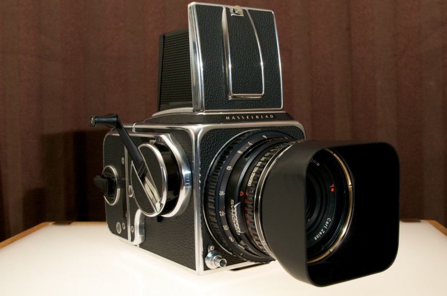 Hasselblad 500 CM medium format SLR camera with Carl Zeiss T* lens