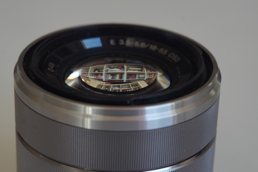 Lens reflections on Sony SEL1855