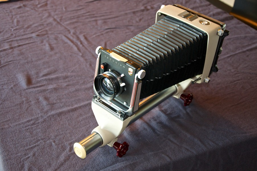 Linhof Technika D.B.P. 4×5 monorail bellows camera