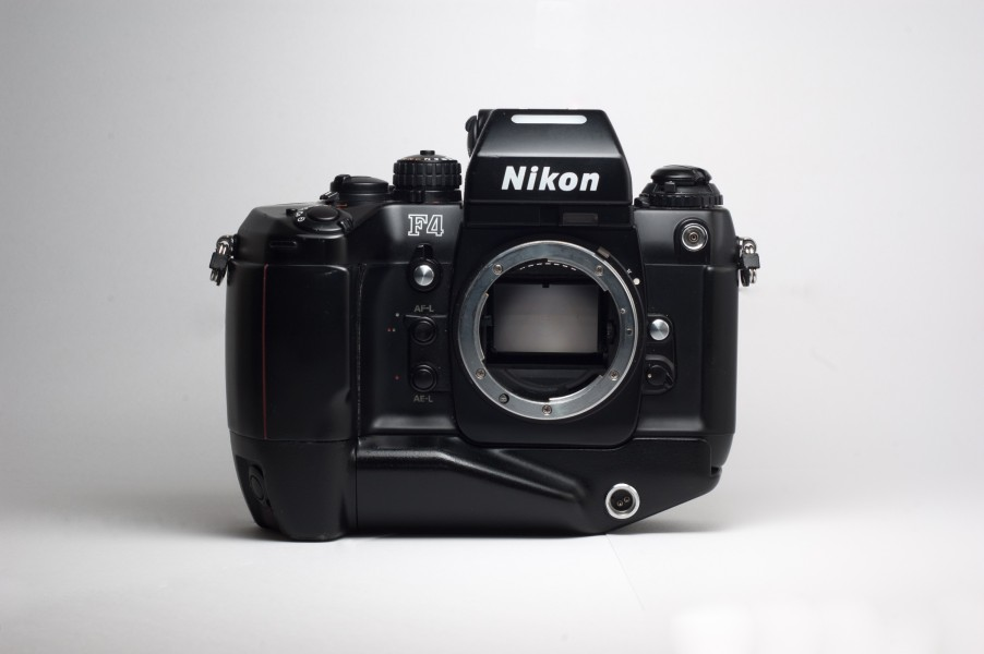 Nikon F4 with Battery Pack MB-21 (F4S)