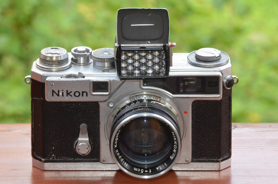 Nikon SP chrome with exposure meter and NIKKOR-S 1,4 f=5cm