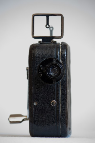 Pathé-Baby hand movie camera (front)