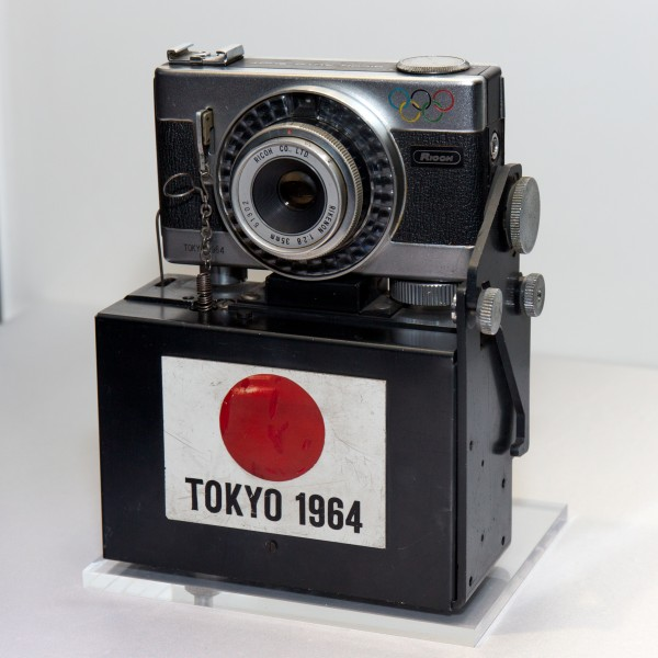 Ricoh Auto Shot for 1964 Summer Olympics finish line recording 2 2014 CP+