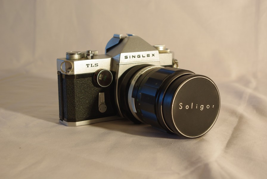 Ricoh Singlex TLS with 135mm lens