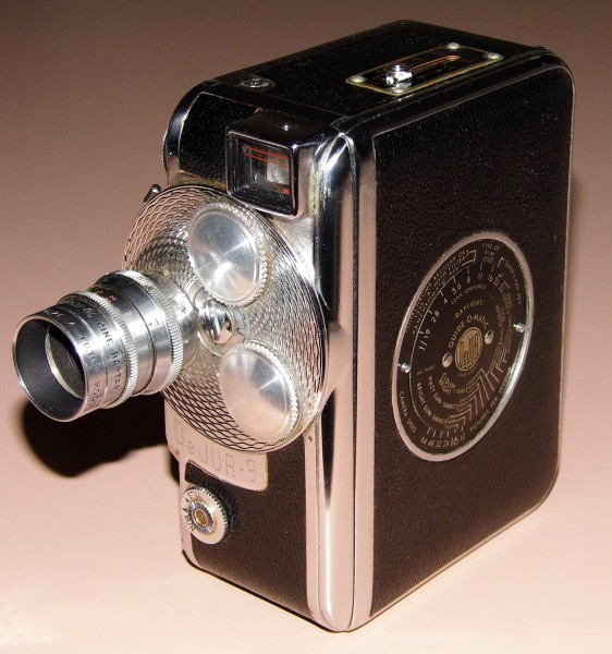 Vintage DeJur 8 Movie Camera With Turret, Pictured With One Lens, Circa 1948 (13471747803)