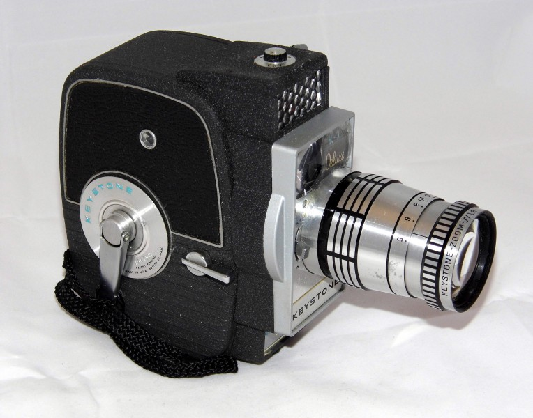 Vintage Keystone Model K-7 Electric Eye 8mm Movie Camera With Zoom Lens, Circa 1961 (17017591137)