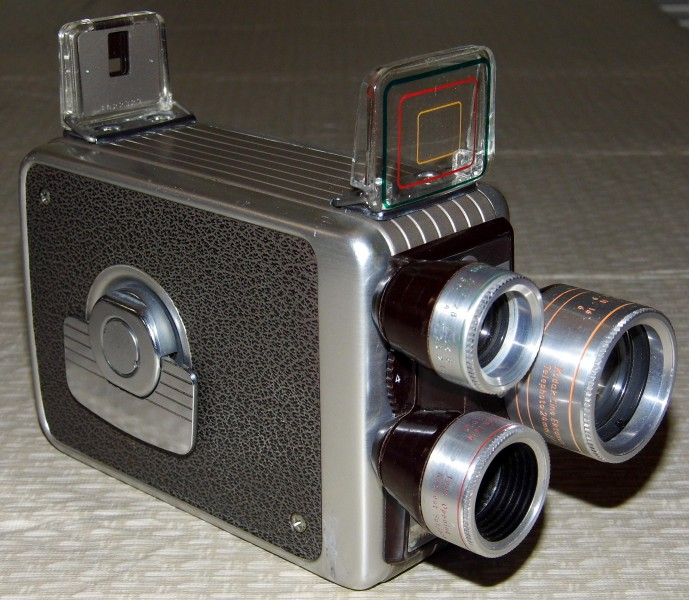 Vintage Kodak Brownie 8mm Movie Camera, Turret f-1.9 (12160983035)