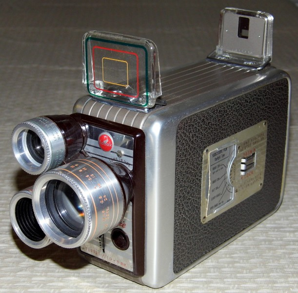 Vintage Kodak Brownie 8mm Movie Camera, Turret f-1.9 (12161761246)