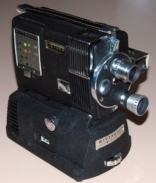 Vintage Longines-Wittnauer Cine-Twin 8mm Movie Camera-Projector, Model WD-400, Circa 1958 (14793396939)
