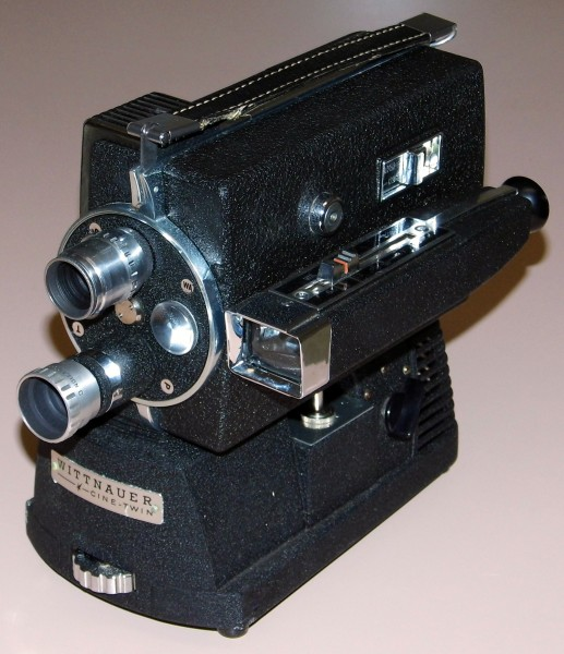 Vintage Longines-Wittnauer Cine-Twin 8mm Movie Camera-Projector, Model WD-400, Circa 1958 (14793408329)