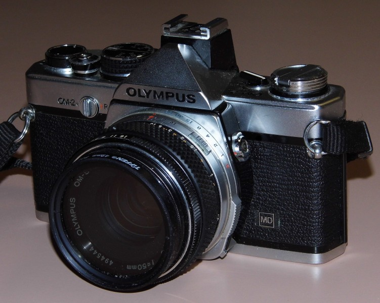 Vintage Olympus OM-2n 35mm SLR Film Camera, Made In Japan (13472273944)