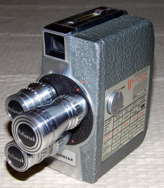 Vintage Wollensak 8mm Movie Camera, Model 53 (12103199004)
