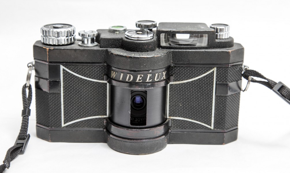 Widelux F7 panoramic camera-front