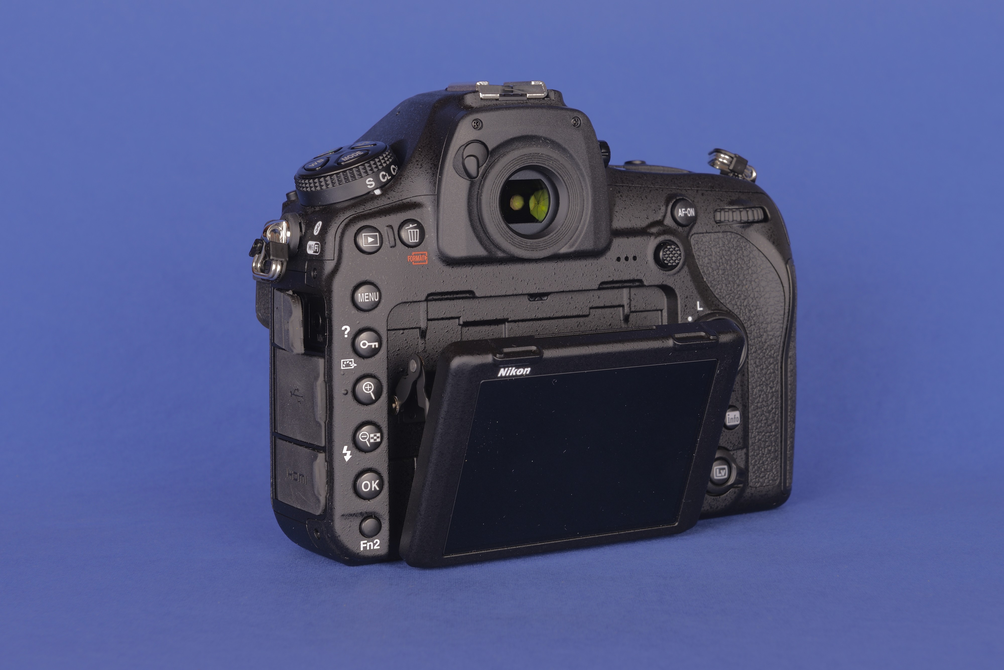 Nikon DSLR camera D850 lateral rear view