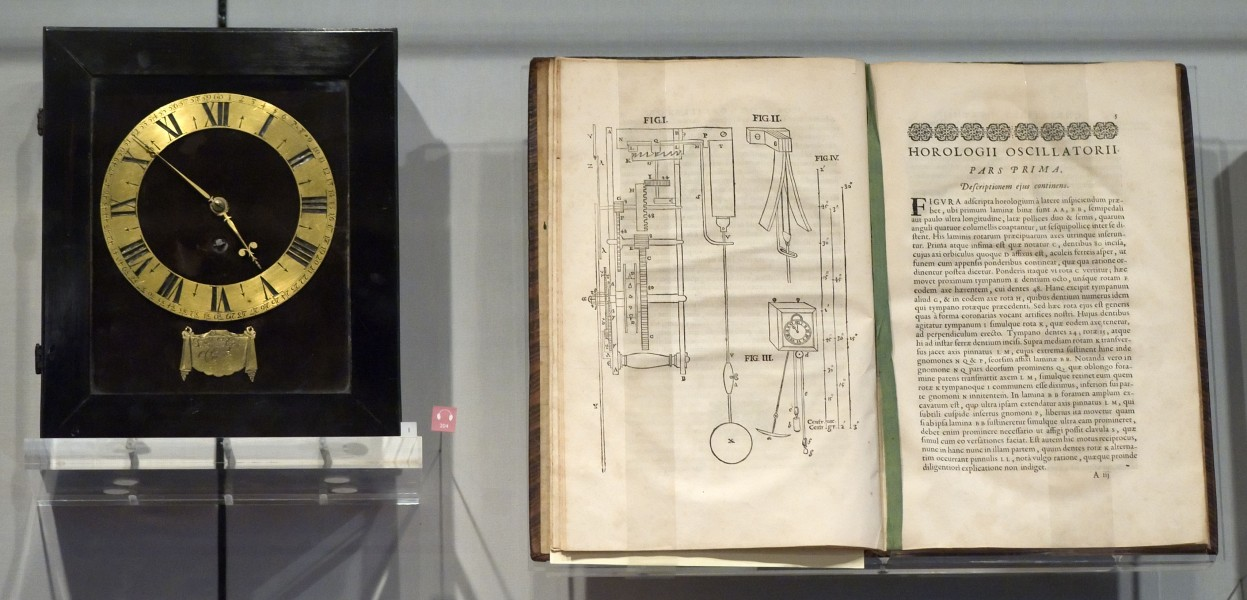 Christiaan Huygens Clock and Horologii Oscillatorii
