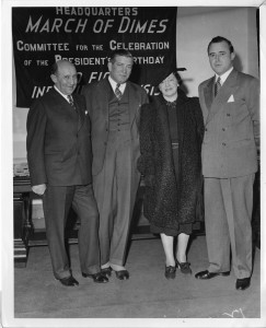 (left to right) Morris Fishbein (1889-1976); Felix Joel Underwood (1882-1959); Anna Mantel Fishbein, wife of Morris Fishbein; and Keith Morgan (5493776939)