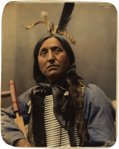 Left Hand Bear, Oglala Sioux chief, by Heyn Photo, 1899