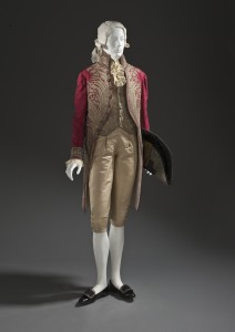 Man's coat and vest with metal-thread embroidery c. 1800
